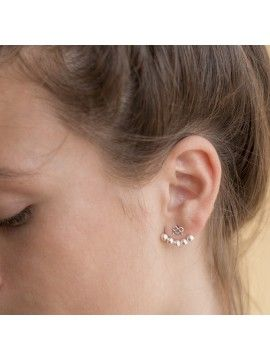 Ear Jacket ALMALEON Plata 2